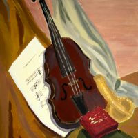 Natură statică, vioară